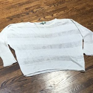 Cleo White Mesh and Knit sweater